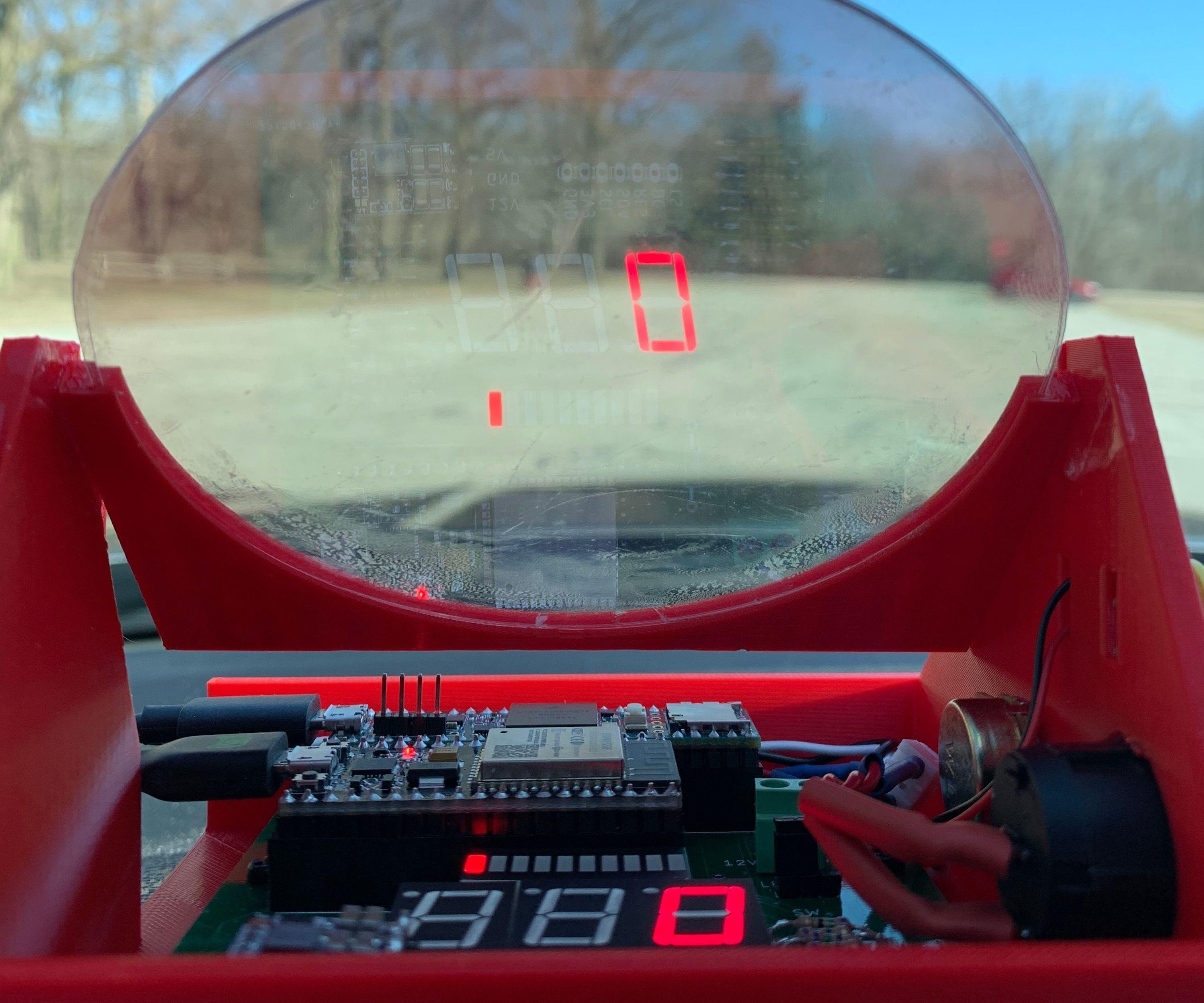 Car Heads Up Display (Arduino + ELM327)