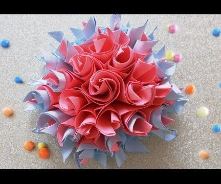 DIY Paper Crafts:Easy Origami Paper Flowers