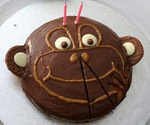 2nd Birthday Monkey Cake
