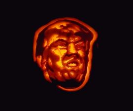 Trumpkin: How to Carve Donald Trump's Stupid Face Into a Pumpkin