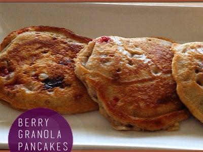 Berry Granola Pancakes Recipe
