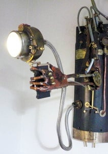 Posable Steampunk Mechanical Arm Lighting Unit