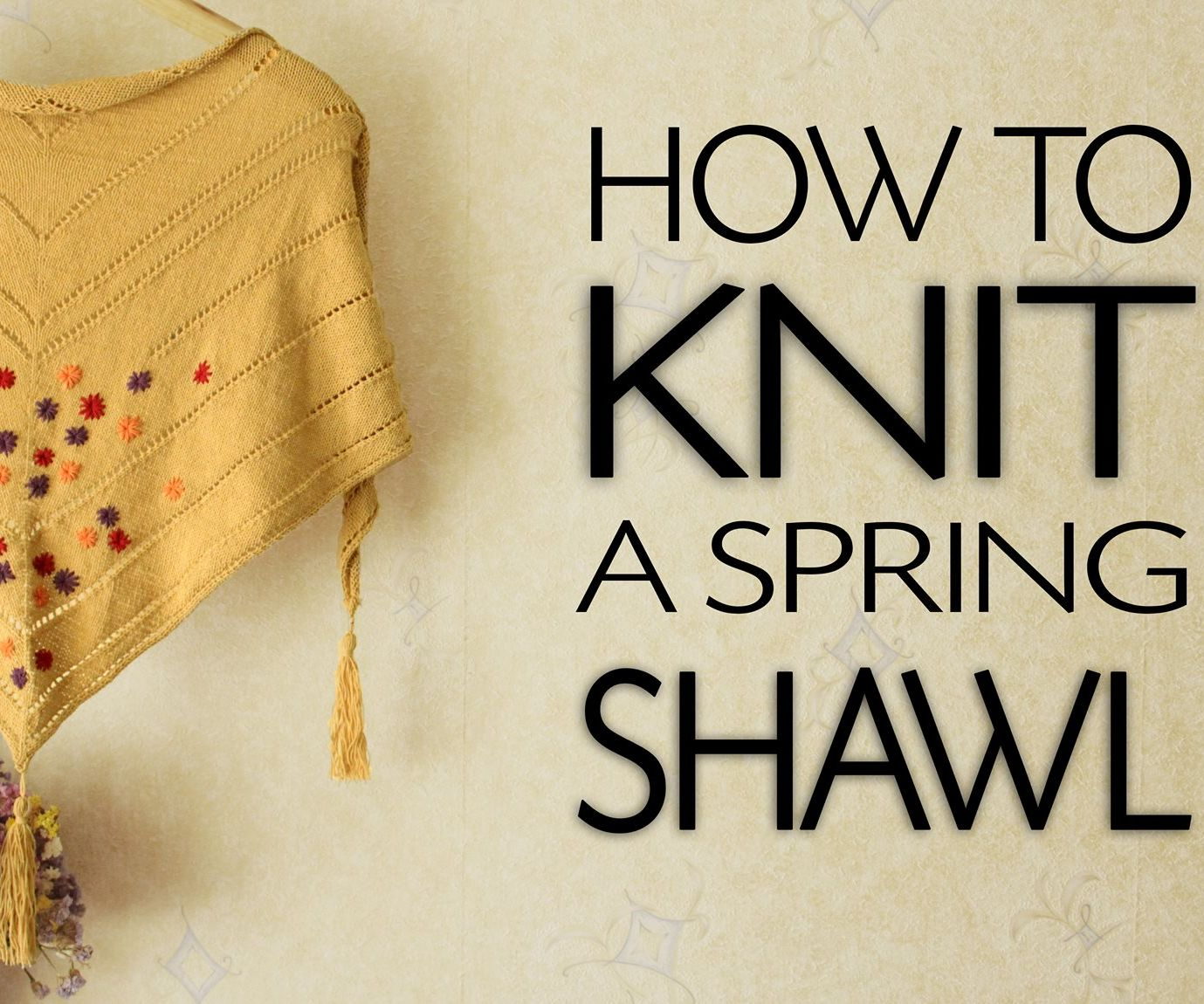 How To Knit a Triangle Shawl