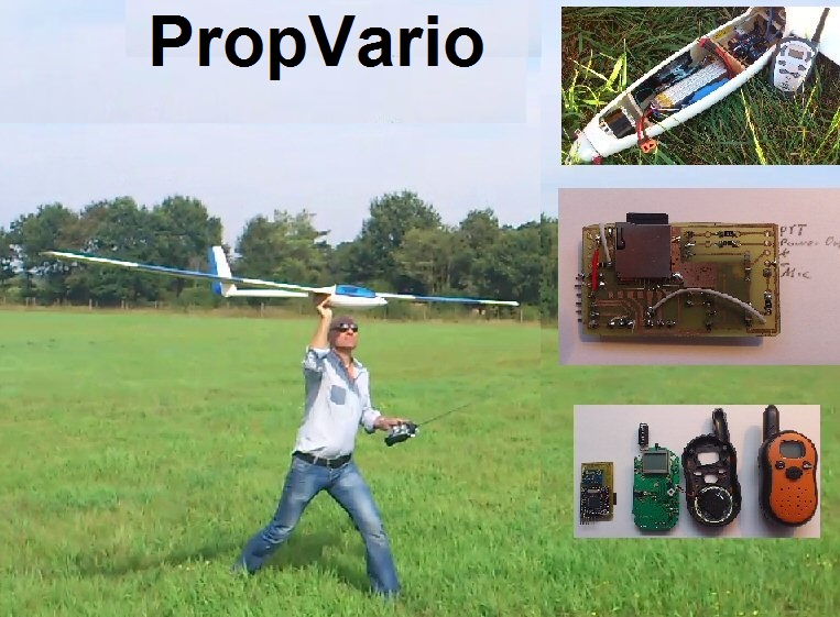 PropVario, a DIY Variometer/Altimeter with voice output for RC Sailplanes