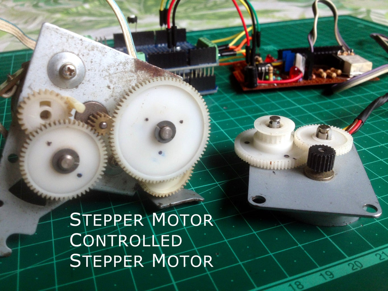 Stepper Motor Controlled Stepper Motor   Stepper Motor As a Rotary Encoder