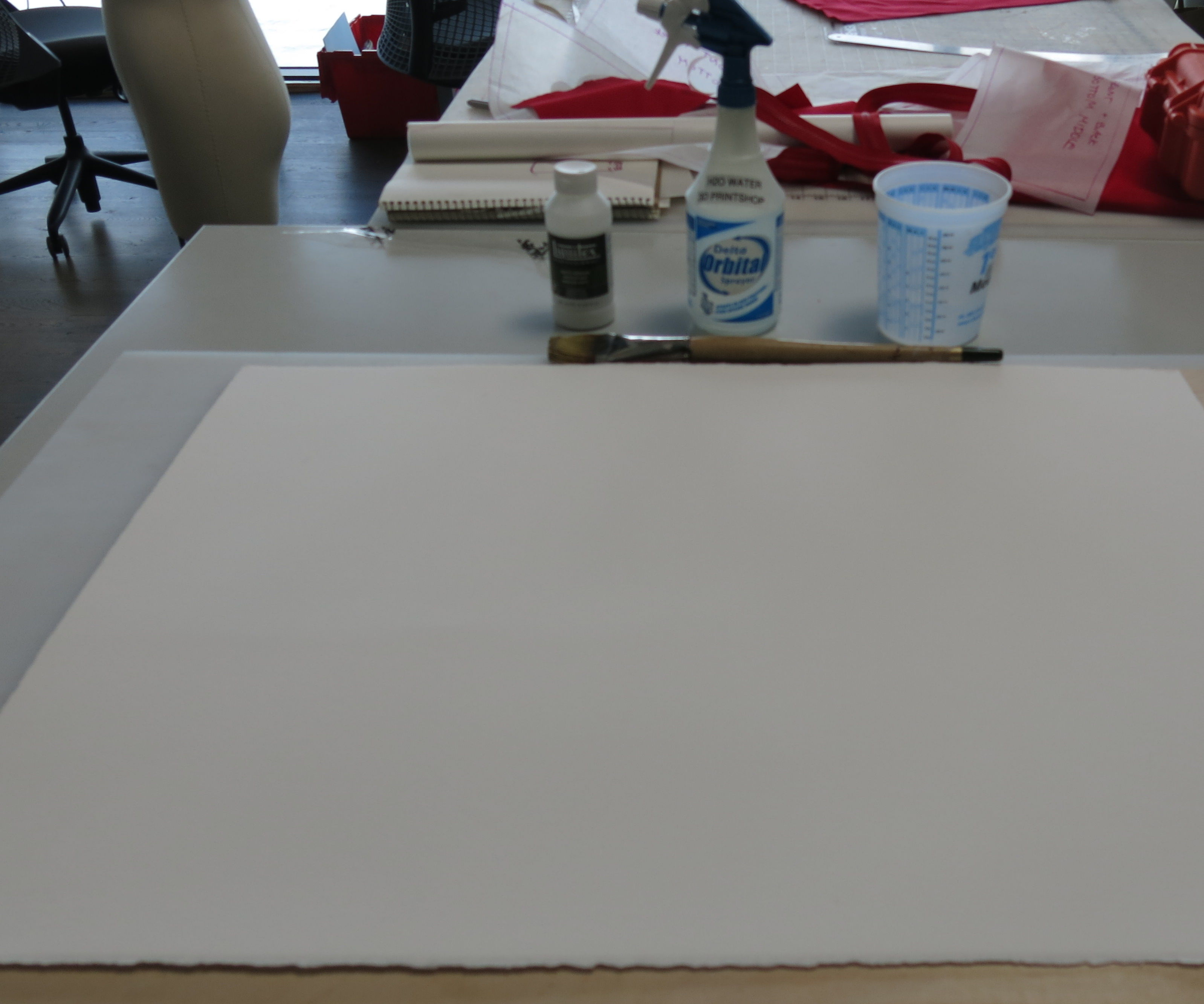 Mounting watercolor paper to board (for lasercutting or otherwise)
