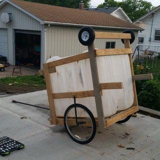 Deck Wood Dump Cart