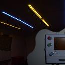 Iluminación de riel LED RGB de tubo de cartón