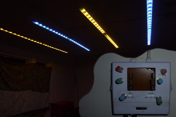 RGB LED Track Lighting From Cardboard Tube