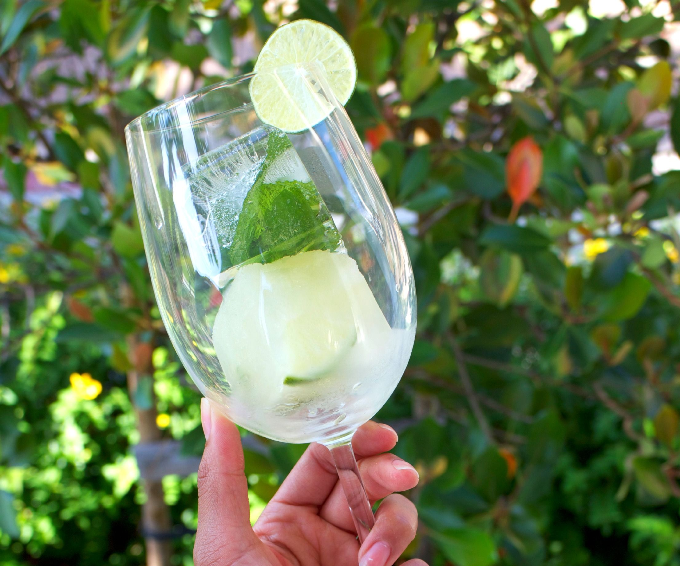 Instant Mint Limeade Icecubes
