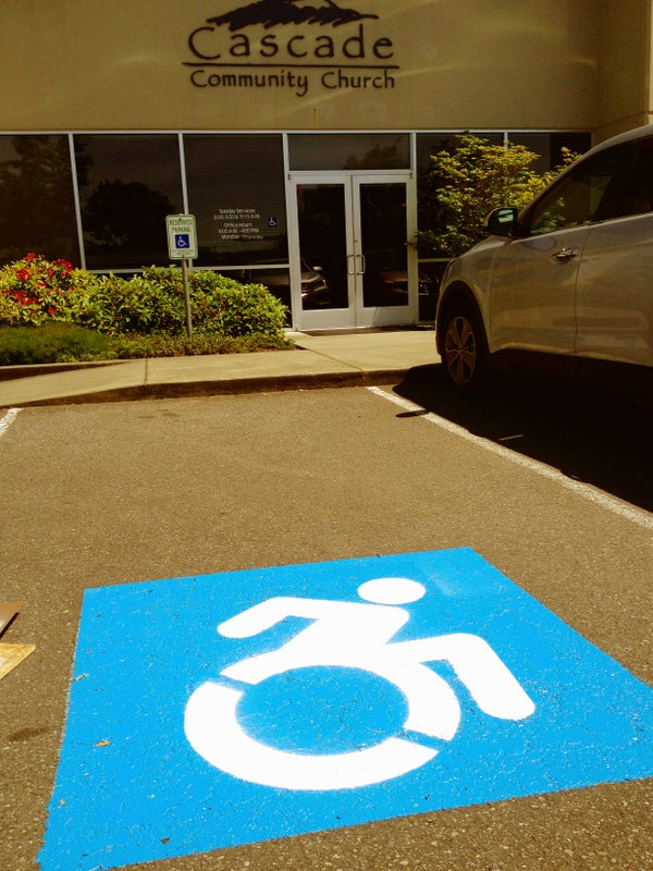 Stencil for Disability Parking Space