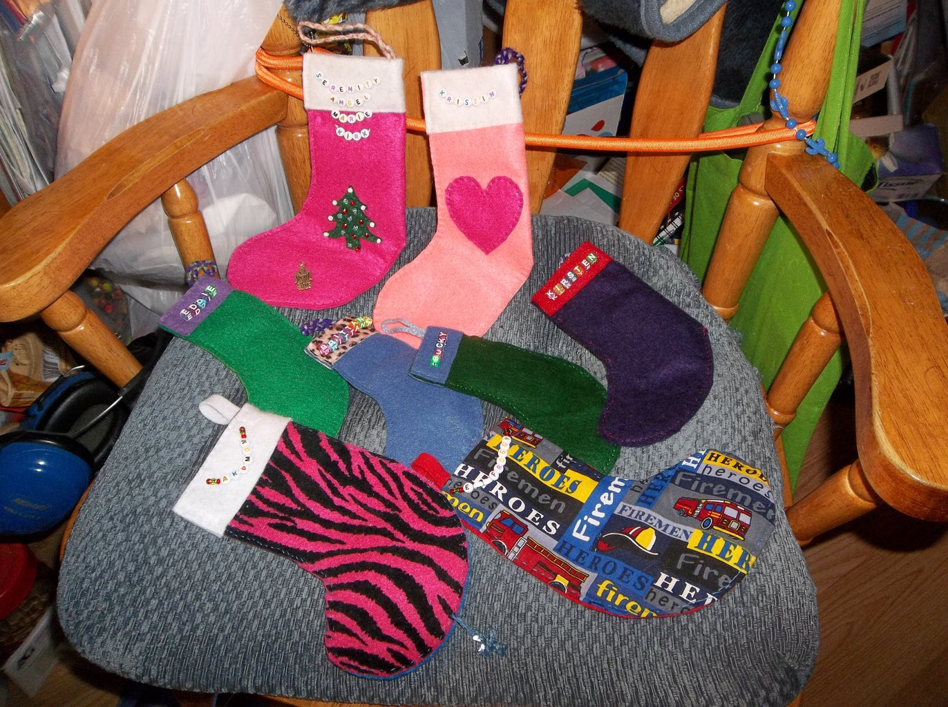Christmas Tree Ornaments, Hand-sewn Wallets
