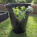 DIY Growing potato tower with turning bins