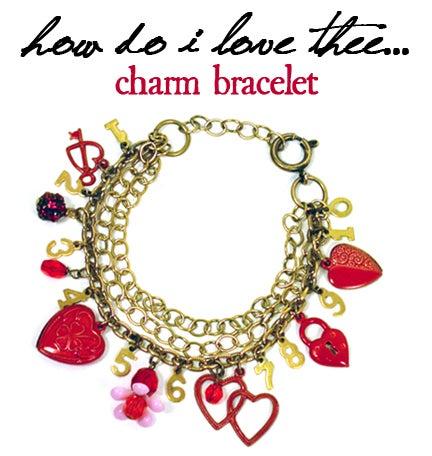 How Do I Love Thee Charm Bracelet