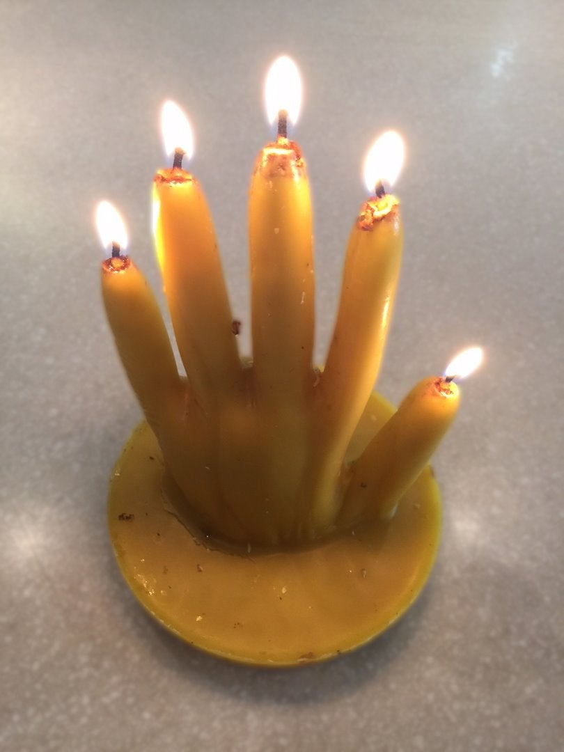 Beeswax Hand Candle