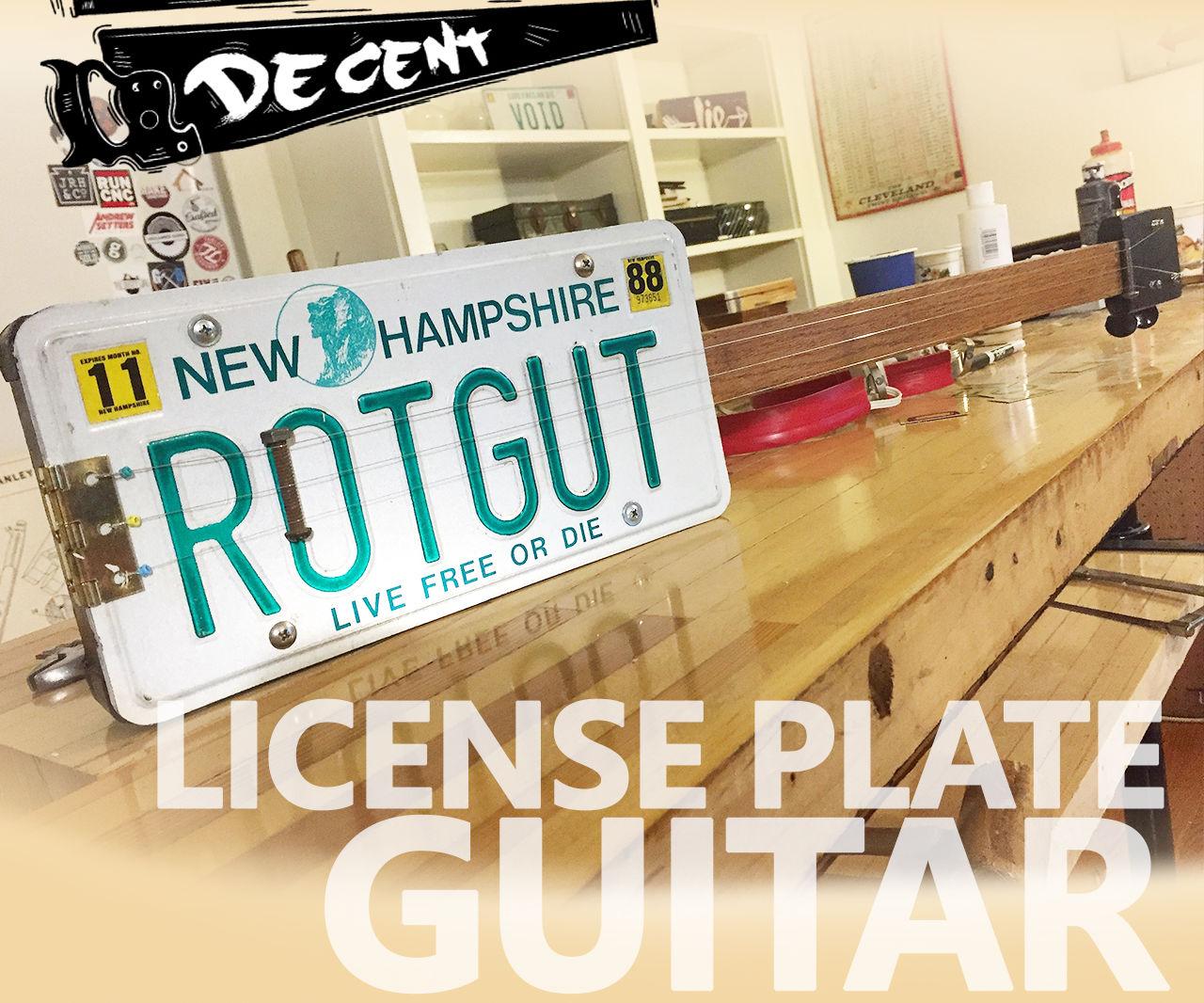 License Plate Slide Guitar