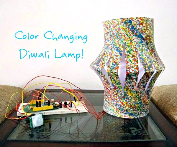 Color Changing Festive Lamp