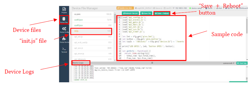 Loading the Sample Code Into NodeMCU Board