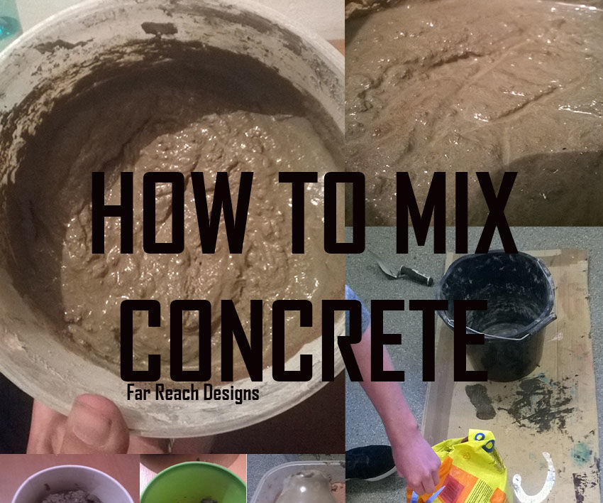 How to mix Concrete or Cement