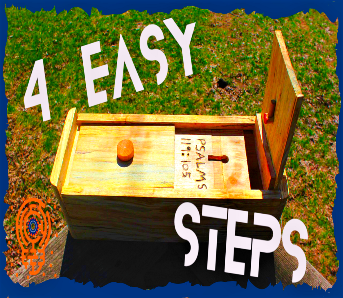 How to Make an Easy 4 Step Puzzle Box (Out of a Log)