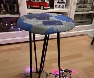用回收塑料做的凳子