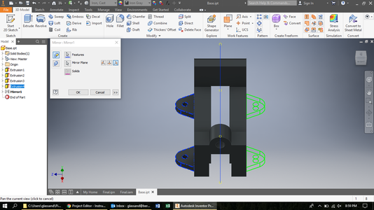 Mirror Fasteners Using Shown Axis