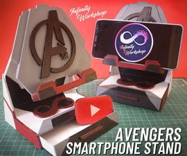Easy Avengers Smartphone Stand (Free Templates)