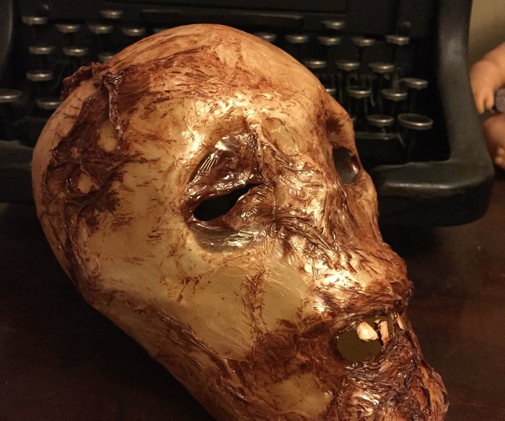 Dollar Store Skull Corpsing with plastic bags and heat gun