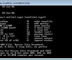 Storing Files on an Audio Cassette