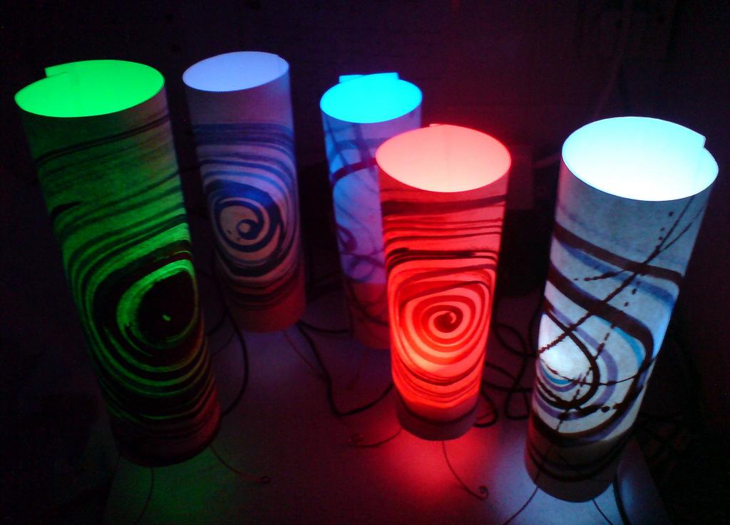 Push fit LED moodlamp