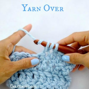 You Now Have 3 Stitches on Your Hook.  Yarn Over Again.