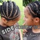 Side Cornrows Hair Style Tutorial