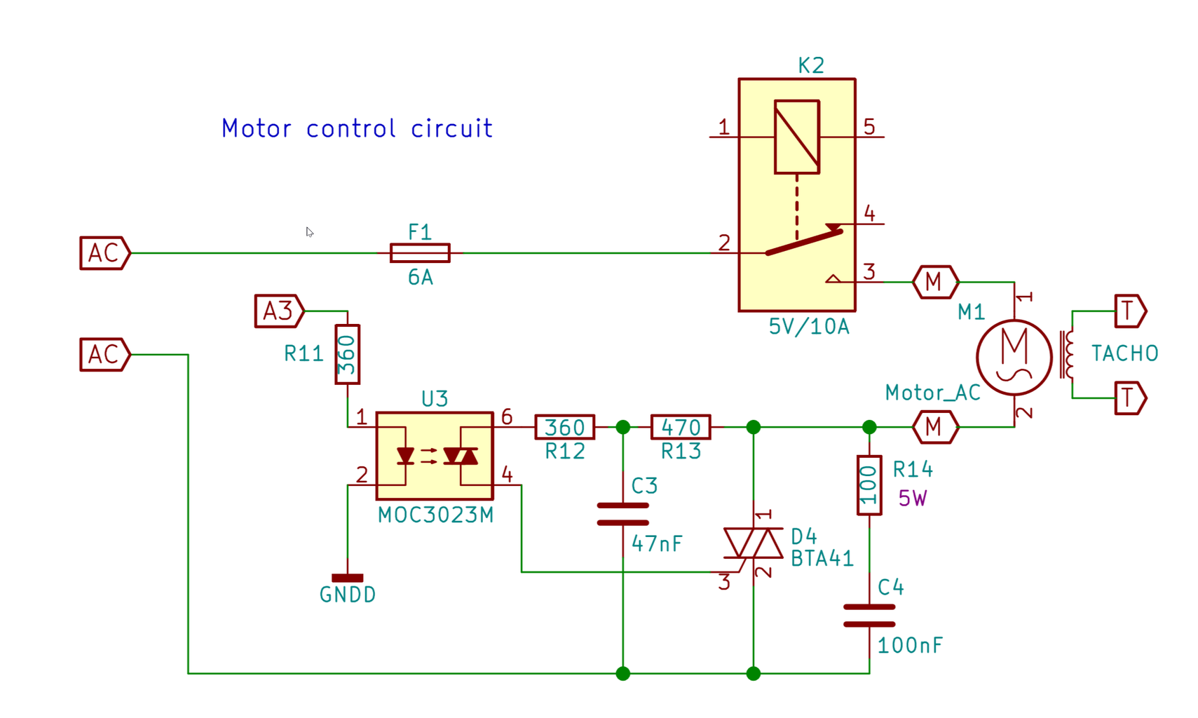 Motor Control #5 - Triac Triggering, Snubber Circuit and Transients