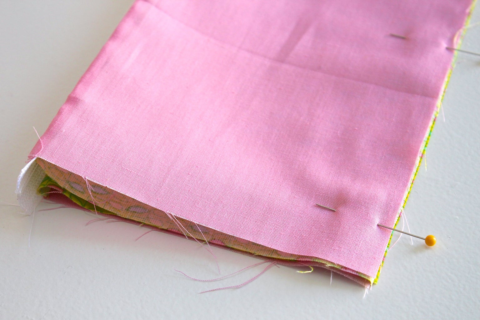 Sew the Bottom of the Pouch Together
