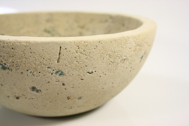 Smash and Grab Bowl_Cast Concrete + Glass.