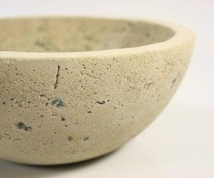 Smash and Grab Bowl_Cast Concrete + Glass.