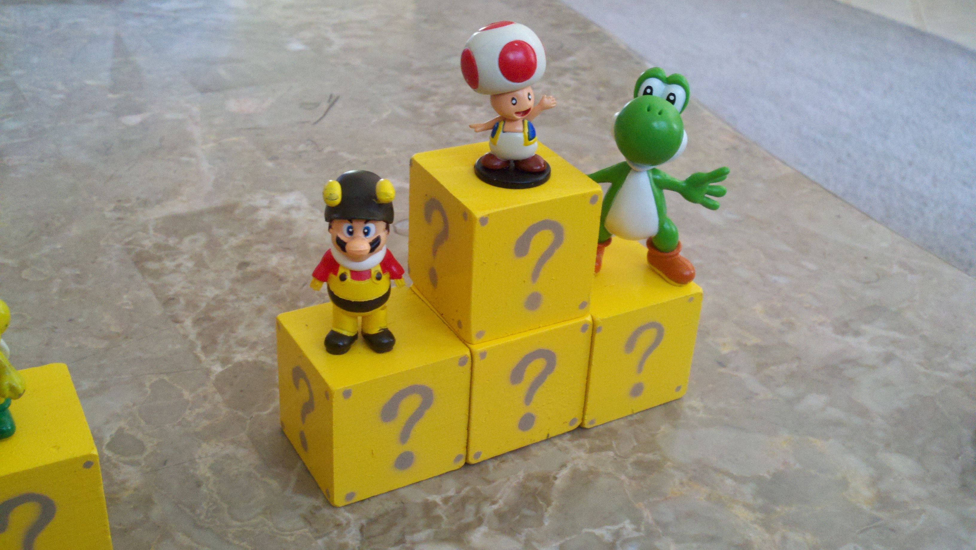 Mario themed building blocks