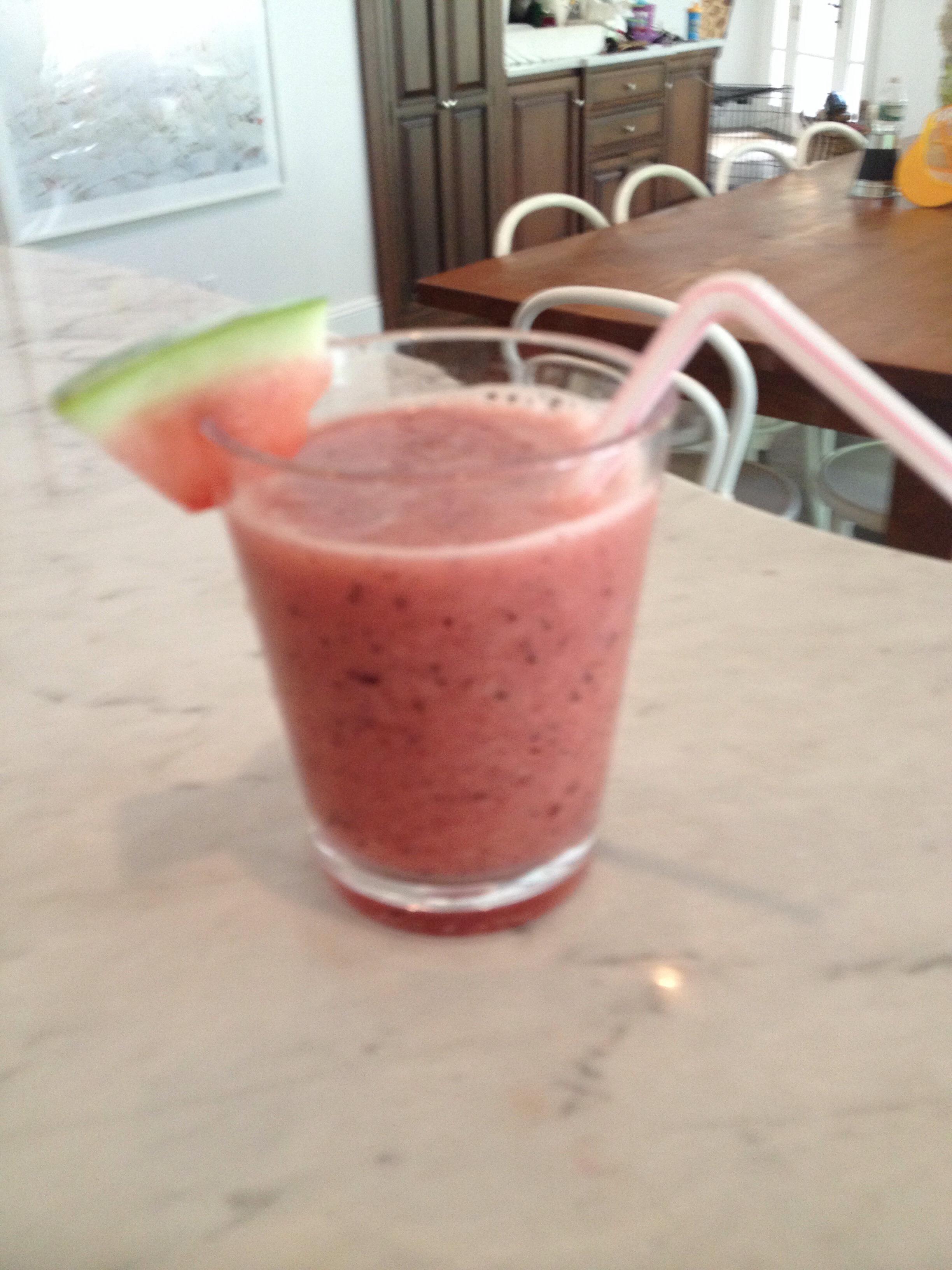 Watermelon Blueberry Smoothie