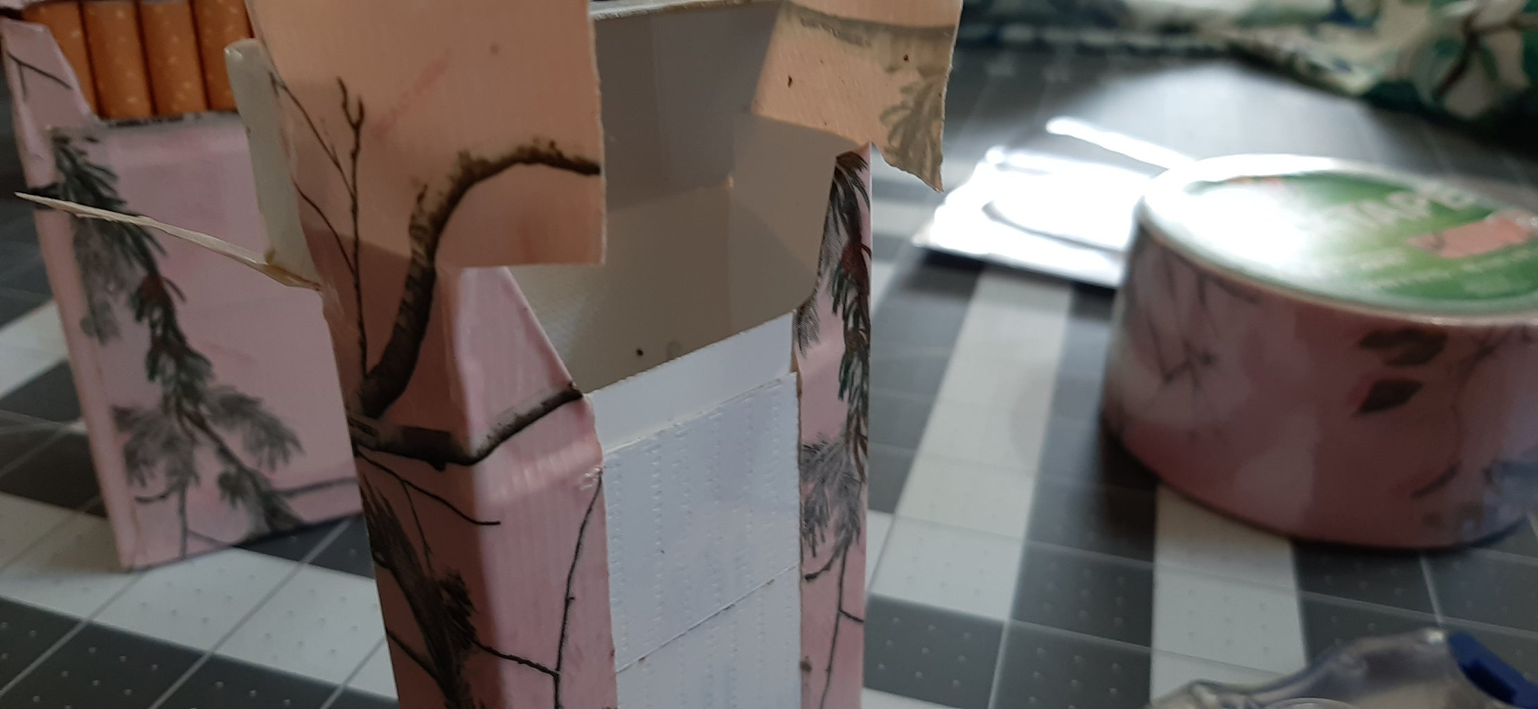 Applying the Decorative Tape to the Bottom and Sides: