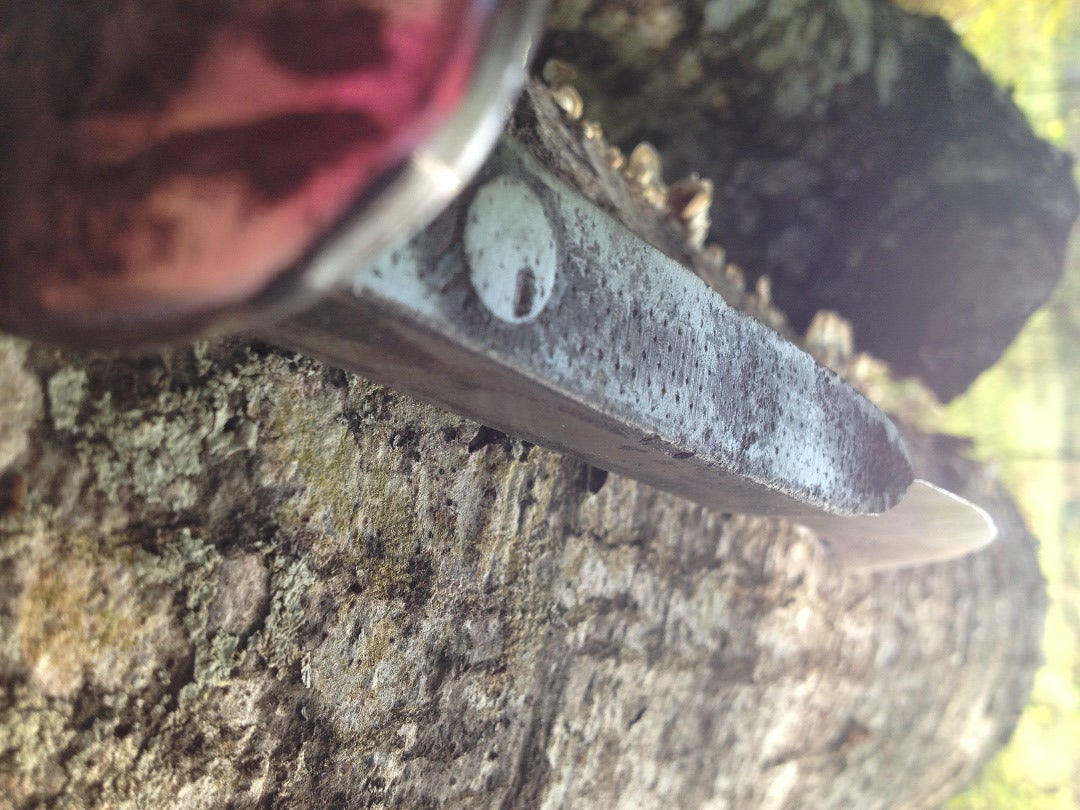 Knife Out of a Railroad Spike