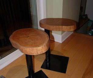 Wood and Steel Sidetables