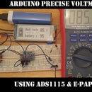Waveshare E-ink Display Precise Voltmeter (0-90v DC) With Arduino Nano