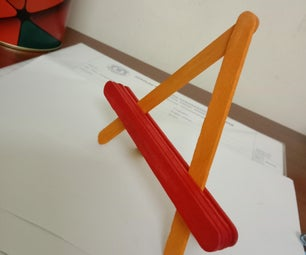 Popsicle Stick Phone Stand