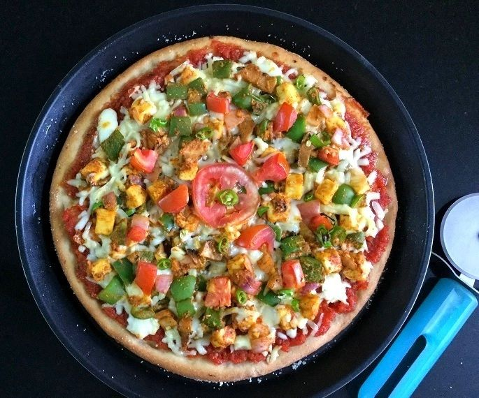 Spicy Paneer Tikka Pizza (with Whole Wheat)