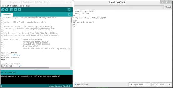 Program in Tiny Basic.