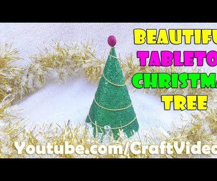 How to make tabletop Christmas tree