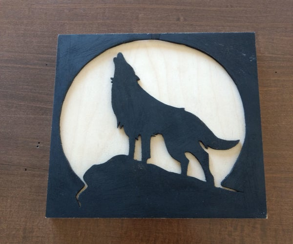 Wolf Scroll Saw Art