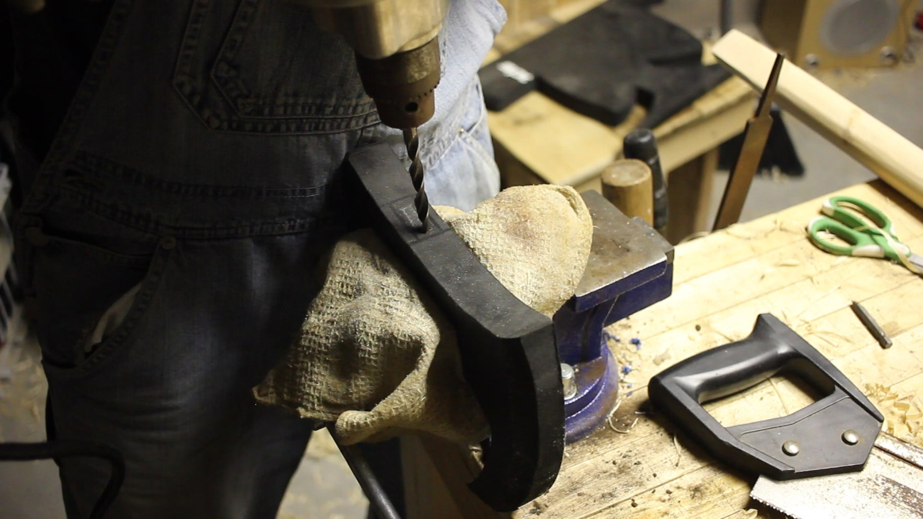 Drilling and Cutting Your Axe Head