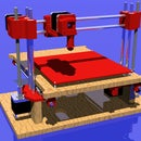 Woodbased 3D printer with new desinged printed parts