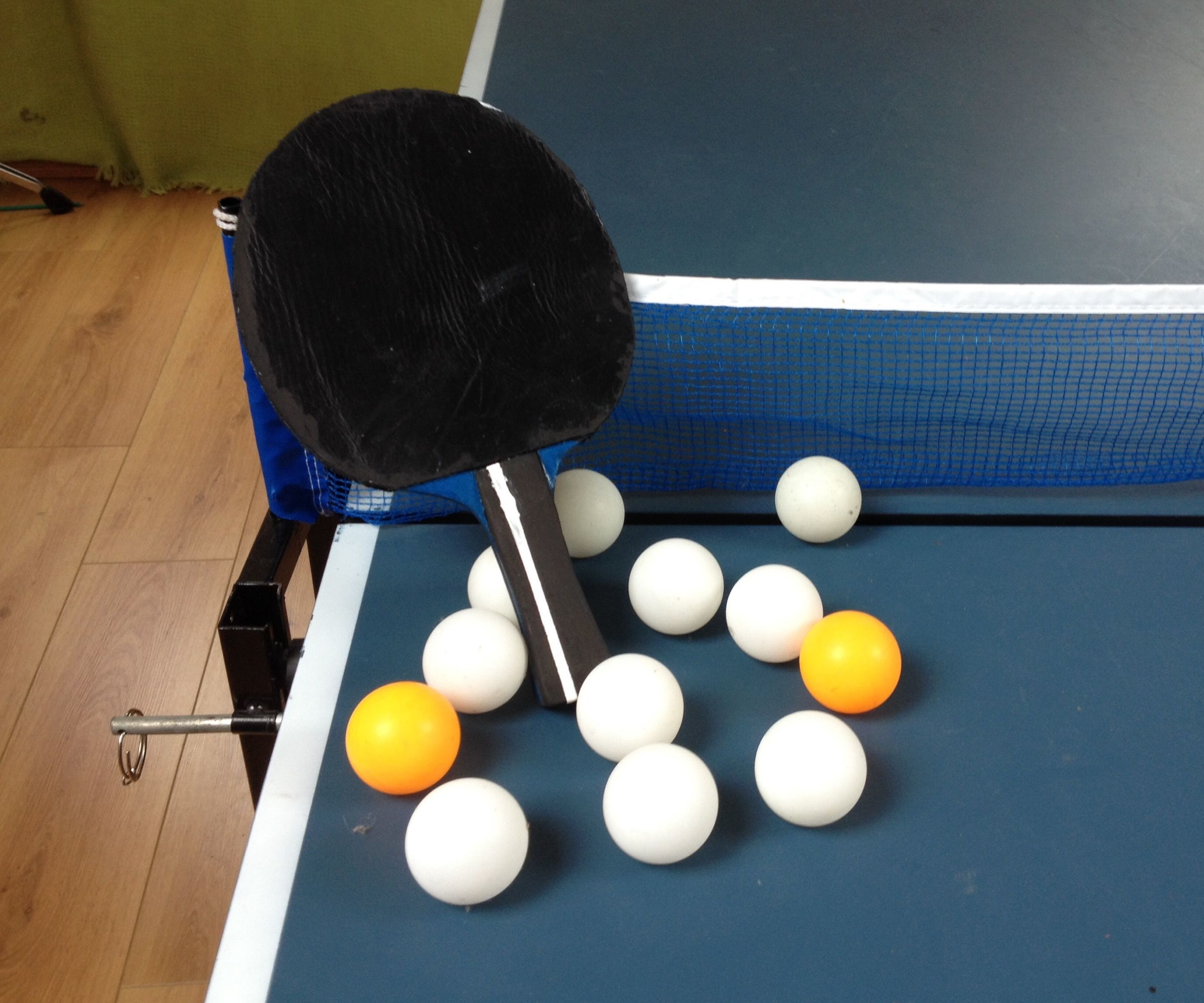 Leather / Rubber Table Tennis Bat